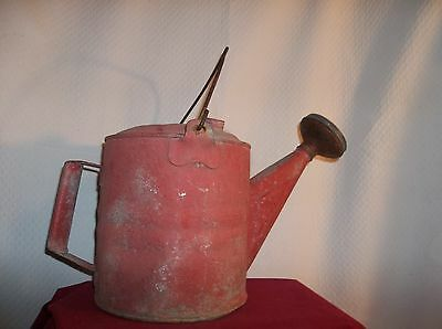 Vintage 6 Qt. Galvanized Watering Can With Handle and Carring Wire Handle