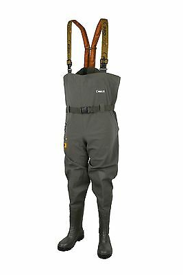 Prologic NEW Fishing Road Sign Chest Waders + Belt & Cleated Sole *All Sizes*