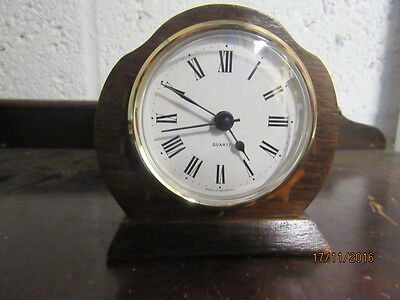 "Upcycled Retro Quartz Clock In Working Order 3.5"" X 4"""