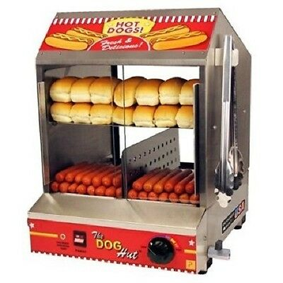 Hot Dog Steamer and Bun Warmer Cooker Merchandiser Stores Concessions Parties