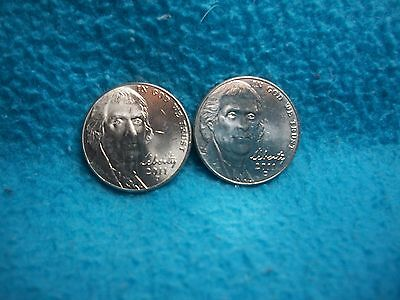 2011 P & D Jefferson Nickel Uncirculated 2 Coins