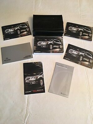 2012 Acura MDX Owners Manual Set with Case 12
