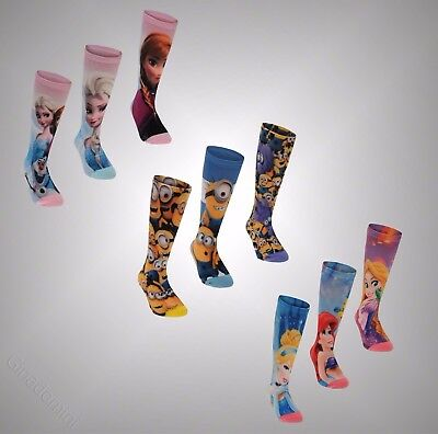 3 Pack Kids Boys Girls Branded Character Print Soft Touch Fabric Socks