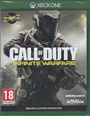 Call of Duty Infinite Warfare Xbox One with Zombies Terminal Map New Sealed