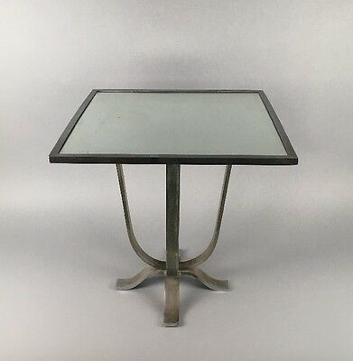 1930's French Art Deco Hollywood Regency Mirror Top Table