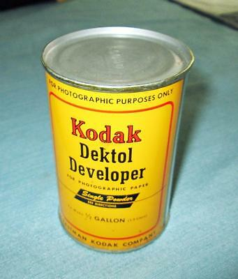 Vintage DEKTOL DEVELOPER for Photographic Paper New in Can by Eastman Kodak