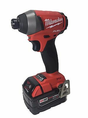 "Milwaukee 2753-20 M18 FUEL 18V Brushless 1/4"" Hex Cordless Impact + 48-11-1850"