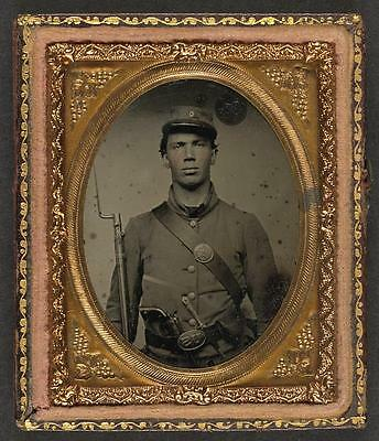 American Civil War,Unidentified Union Soldier,Company C,Bayoneted musket,c1861