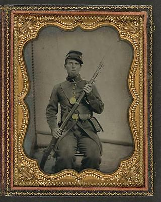 American Civil War,Unidentified Union Soldier,Bayoneted Musket,1861-1865 2