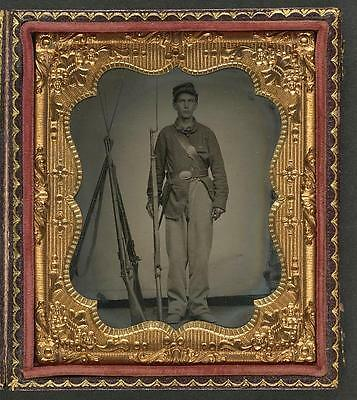 American Civil War,Unidentified Young Soldier,Union Uniformed,Musket,1861-1865