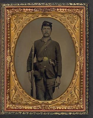 American Civil War,Unidentified Union Soldier,Military,1861-1865,Musket
