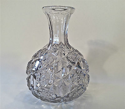 EAPG McKee Brothers TOLTEC Pattern Decanter Water Bottle Ca. 1902-EXCELLENT