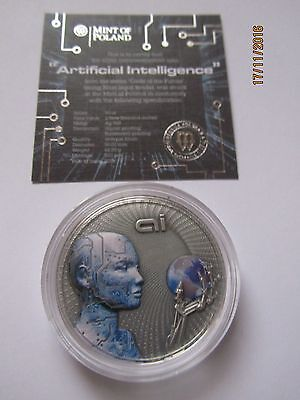 2016 Niue, Artificial Intelligence, Code of the Future, 2 oz Silber