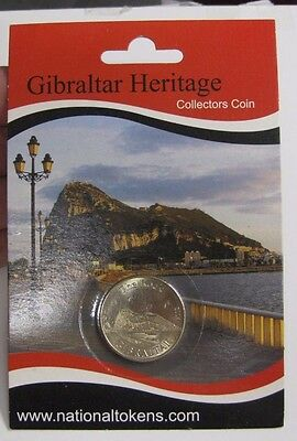 Monkey - Primate Coin Barbary Macaque Rock Of Gibraltar Sealed Collector Coin