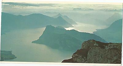 View From Pilatus Switzerland Over Size Swissair Postcard