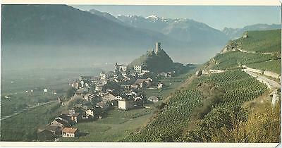 Saillon Switzerland Over Size Swissair Postcard