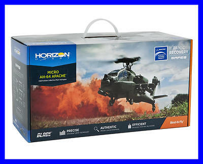 Brand New Blade Ah64 Ah-64 Apache Bnf Bind In Fly Electric Helicopter Blh2580 !!
