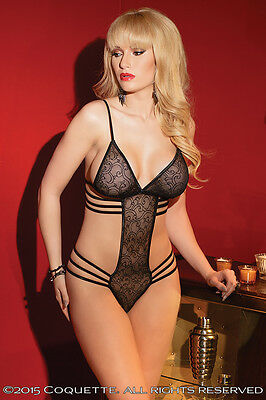 COQUETTE 1993 sexy Body Stringbody Reizwäsche Dessous Party Gogo Catsuit Dessous