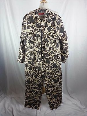 Winchester Camo Camouflage Hunting Fishing Overalls Size S Small Cotton EUC