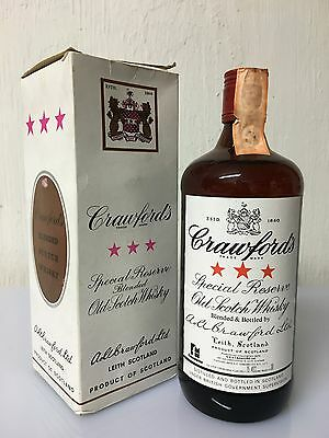 Crawford's Special Reserve Old Scotch Whisky Leith 75cl 40% Vintage