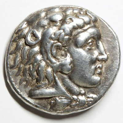 CM Alexander III `the Great` Genuine Ancient Greek Large Silver Coin