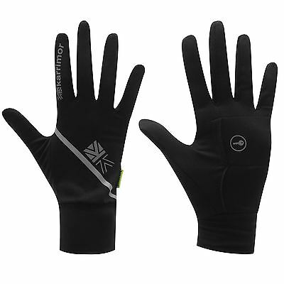 Karrimor Black Running Mitts Gloves Mens XS, M-L, XL With Key Pocket