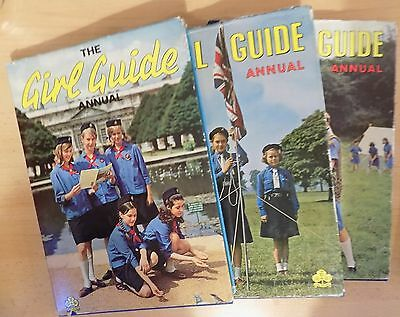 The Girl Guide Annual, 1965,1966,1967. Unclipped Dust-Jackets.
