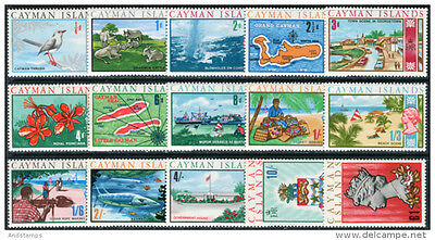 Cayman Islands 1969 Definitive set of 15 MNH