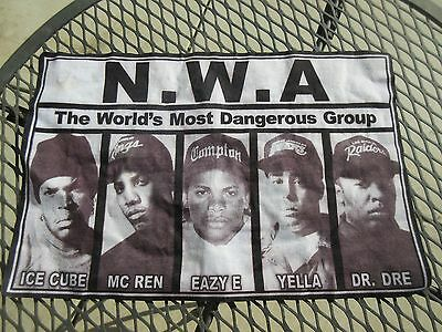 Vintage Large N.W.A Back Patch Cloth Iron On Rap Hip Hop NWA Ice Cube Dre Yella