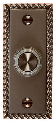 THOMAS & BETTS - LED Door Chime Button, Oil-Rubbed Bronze