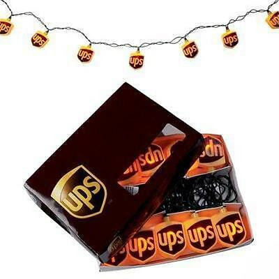 United Parcel Service Christmas Ups Store Xmas Brown Gold Logo Lights