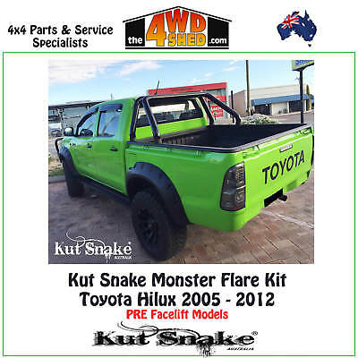 Kut Snake ABS Monster Flare Kit Toyota Hilux 2005-2012 UTE/TRAY SET FRONT FLARES