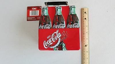 Collectible Coke Bottle Mini Lunch Box Raised Relief Metal Tin-NWT