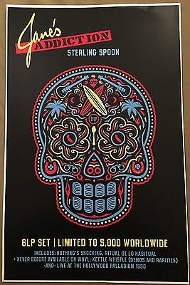 JANE'S ADDICTION  STERLING SPOON Full Color Promo Poster + Tattoos!