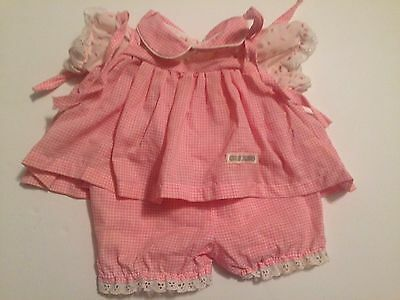 CABBAGE PATCH Girl Doll Pink Dress Outfit Bloomers CLOTHING CPK COLECO SS 3R
