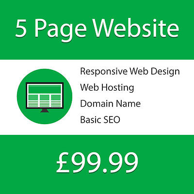 5 Page Professional Responsive Web Website Design