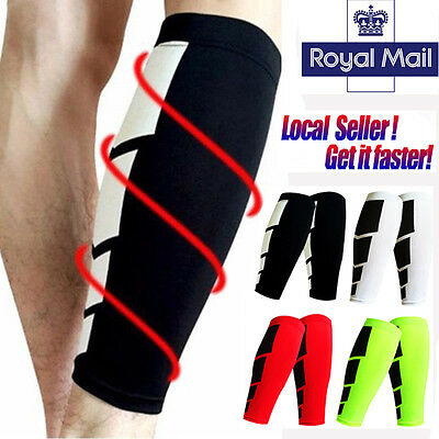 UK Protective Support Leg Shin Splints Pain Injury Sleeve Compression Brace Wrap