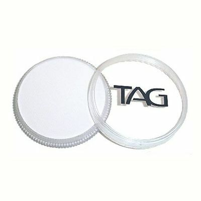 TAG Professional Body Art & Face Paint Makeup 32g - White - Perfect for costumes