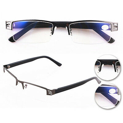 New Half-Frame Hot Coating Metal Reading Glasses 1.0 To 4.0 High Quality