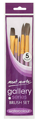 Mont Marte Gallery Series Watercolour Paint Brush Set - 5pc
