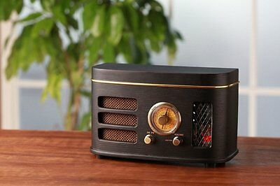 Tosyo Retro-Vacuum Tube AM FM Radio 4W Built-in Speaker F/S JAPAN With Tracking
