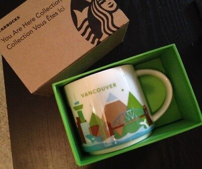 2013 Starbucks Coffee You Are Here Vancouver Canada Mug limited 14 fl oz NEW