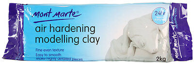 Mont Marte Air Hardening Modelling Clay - AIR DRY CLAY - White 2kg