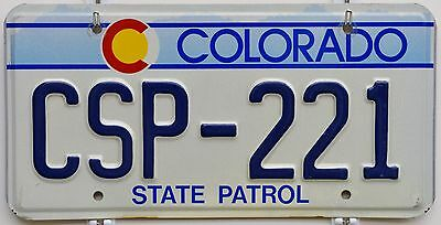 Colorado STATE PATROL License Plate Tag ++ CSP CO