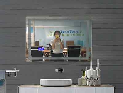 800*600*40 mm Bluetooth Radio Electronic LED Touch Screen Squar Smart Mirror