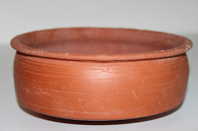 LARGE ANCIENT ROMAN POTTERY REDWARE BOWL 3/4th CENTURY AD
