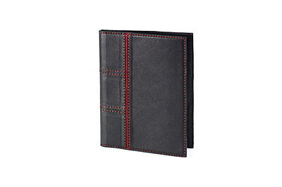 Black Genuine LEATHER Auto Documents Holder COVER Drivers Licence HANDMADE