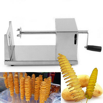 Manual Stainless Steel Twisted Potato Slicer French Fry Vegetable Cutter DH