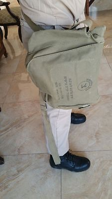 Vintage Zahal IDF Army Chemical Gas Protective Field Bag w Mask & Filter 1975