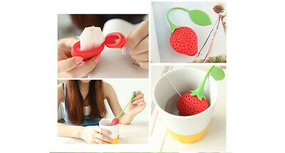 Fraise Strawberry Silicone Infuseur à thé